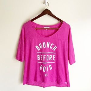 VS Brunch Before Boys Graphic Lounge Shirt, Size S
